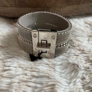 New Express turnlock cuff wrap bracelet silver